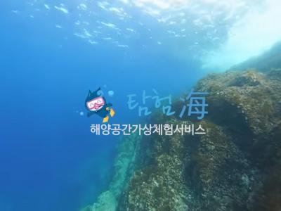 해양수산부 독도 보찰바위 수중 동영상VR